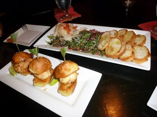 Casa Picasso: Lobster Sliders and Beef Carpacchio