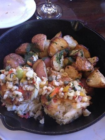 Fin and claw: crab cake skillet
