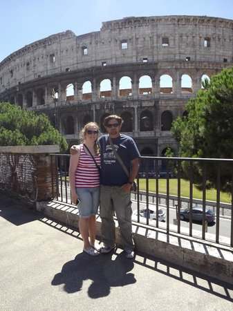 Nerone Tours Italy: Alexander and me at the Colesseum!