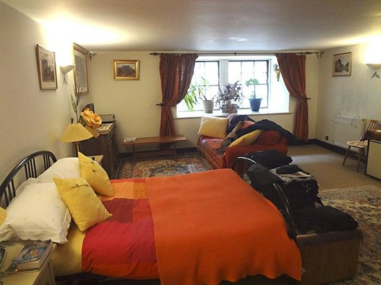 Penny Airey- No.38 Bed & Breakfast: A spacious bedroom at No. 38 Dublin St. There's another bed (a single) behind the photographer.