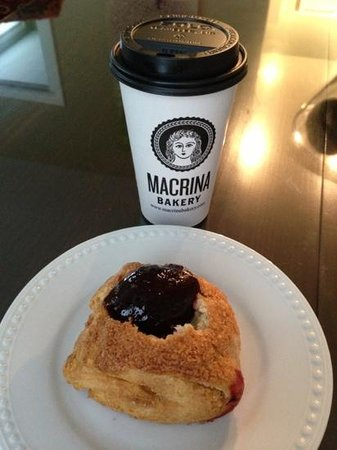 Macrina Bakery : biscuit with merionberry jam - mmmmm