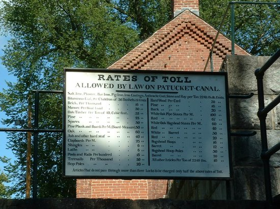 Lowell National Historical Park : Old Canal Tolls