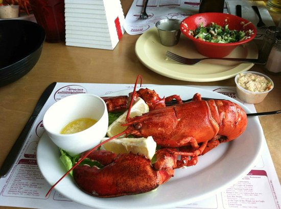 Dennis Point Cafe and Restaurant : My lobster