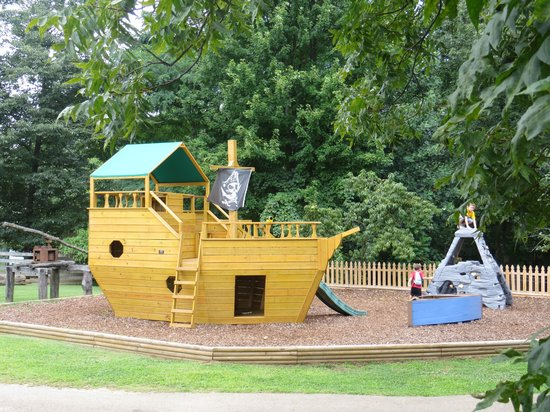 Burritt on the Mountain: Pirate Ship Play Area at end of game