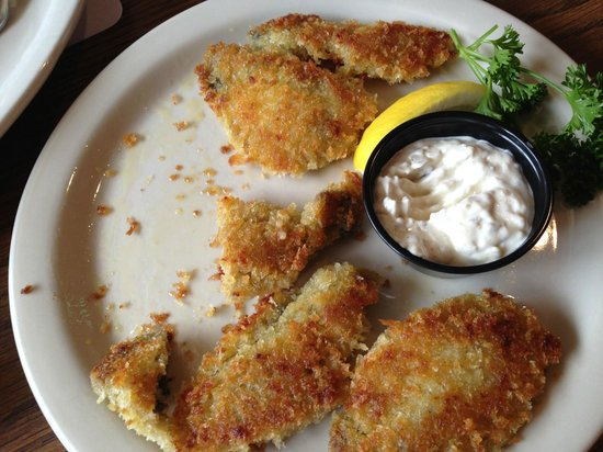 Heidi's: Pan fried oysters - so good I had to eat one before a picture was taken!