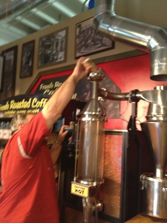 Goodfellas Cafe & Winery: Frank, fresh roasting our coffee beans!