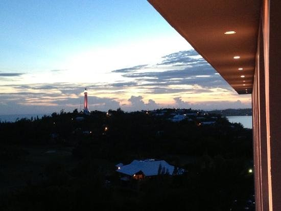 The Dining Room at Gibb's Hill Lighthouse : Sunset view of Gibb's Hill lighthouse from Fairmont Southampton