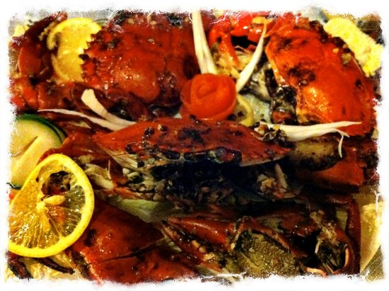 Utopia Resort & Spa: fresh spicy crab dinner
