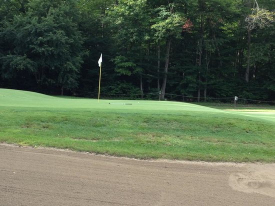 Saranac Lake, NY: Approach to 9th green shows typical course quality.