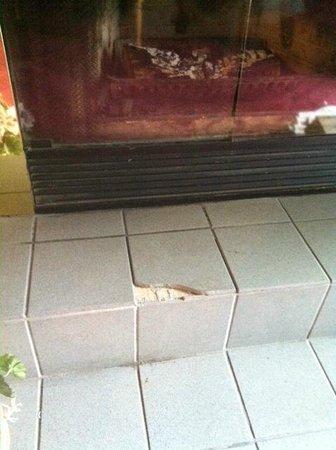 Glen House Resort: cracke tile.  I am glad I didn't bring my kids!
