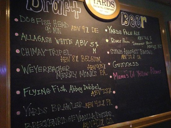 1497fe9133 Beers available - Picture of Vagabond Kitchen   Tap House