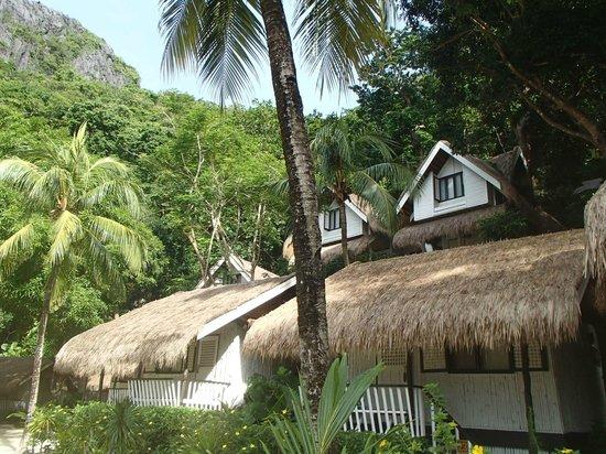 El Nido Resorts Miniloc Island: room from the outside