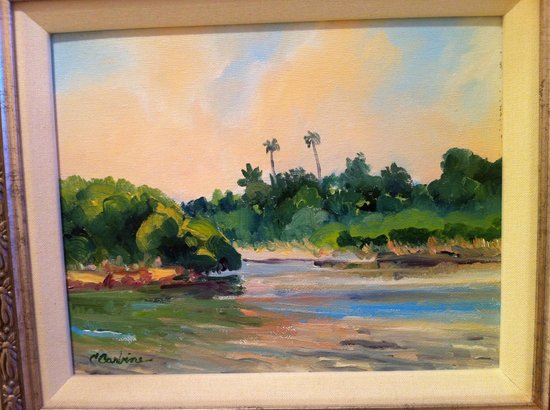 Franciscan Inn: One of the water color paintings in the room