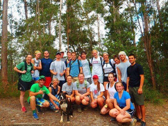 On The Wallaby Backpackers Lodge: Our study abroad group