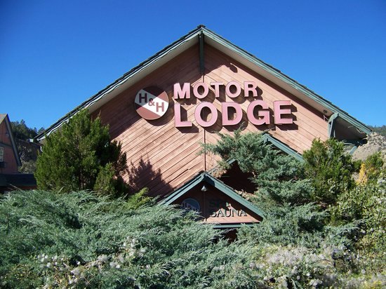 H Motor Lodge Front Of The Motel