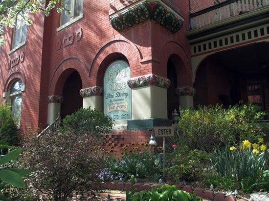 JC Wyatt house looking northwest from sidewalk.