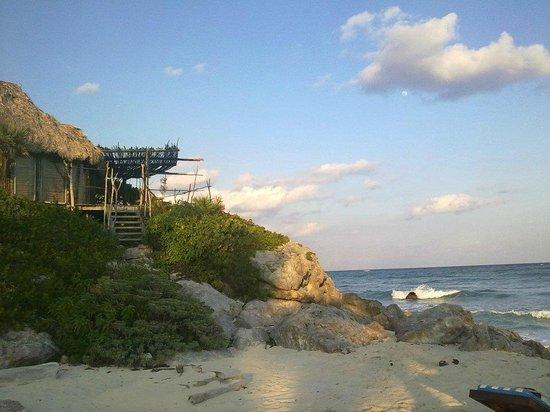Azulik: playa