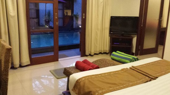 Bali Sanur Beach Villas: The view from the master bedroom out to the pool