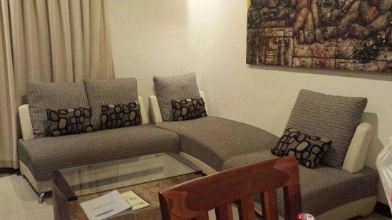 Bali Sanur Beach Villas: The lounge area