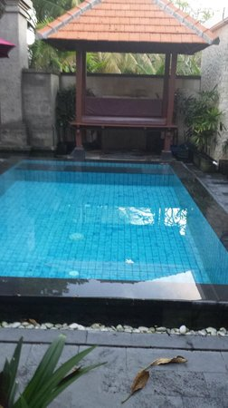 Bali Sanur Beach Villas : The pool and bale