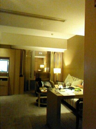 City Suites Taipei Nanxi: コーナーツインこの左側にシングルベットが2台あります。
