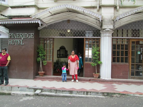 My wife and daughter infront of Pineridge Hotel