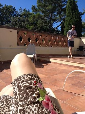 Hotel Villa Ducci: the terrace - lovely little sun trap!