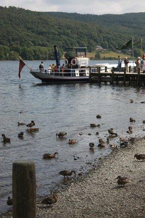 Coniston Water: chug,chug...steamer ahoy