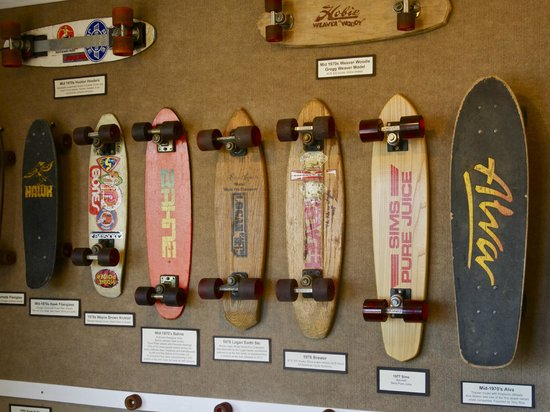 Morro Bay Skateboard Museum: These are the boards from my ear—mid 70s.
