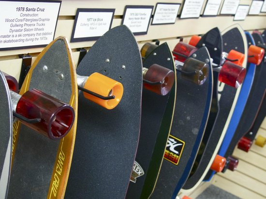 Morro Bay Skateboard Museum: . . . but you could spend hours.