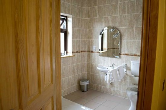 Clonamore House Hotel: Wheelchair accessible bathroom