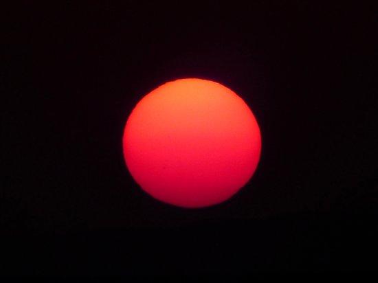 Damara Mopane Lodge: sunset