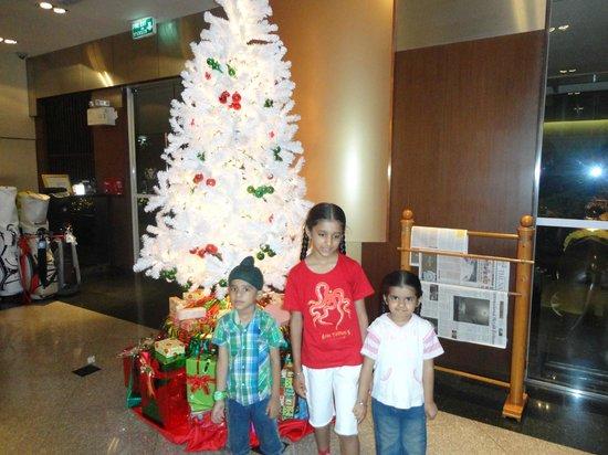 Somerset Lake Point Bangkok : the lobby of the hotel