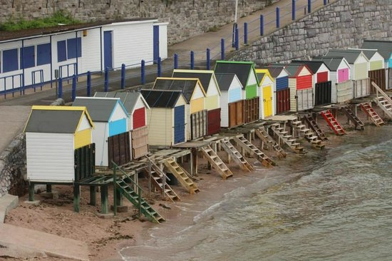 The Somerville: The local area (beach huts on the beach)