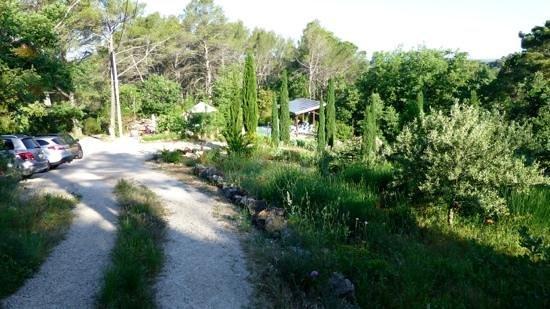 La Bastide des Templiers : Zufahrt und Pool