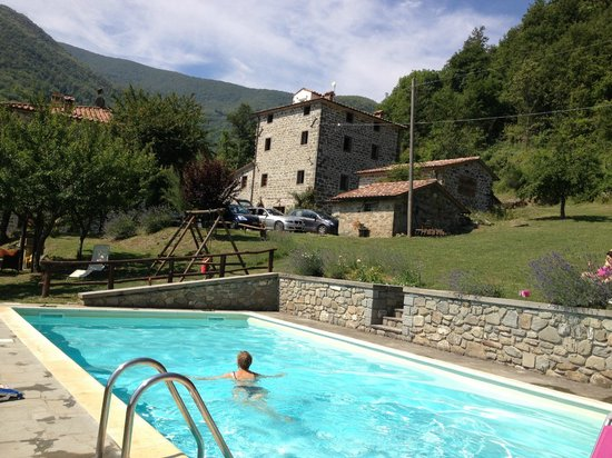 Bio Agriturismo Il Vigno : View of the farmhouse from the pool area
