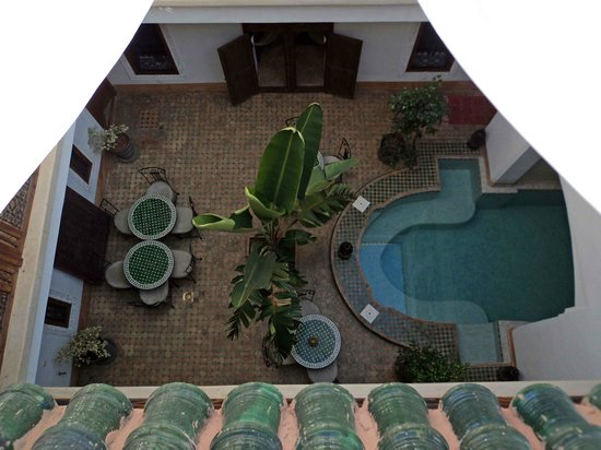 Riad Smara : Patio y Piscina