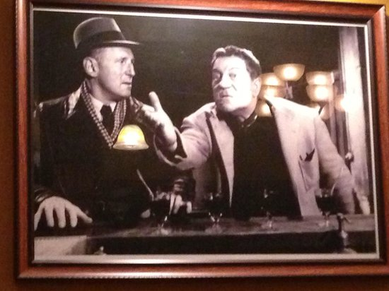 Chez Papé French Bistro: Bourvil and Gabin are part of the decor!!  Awesome.