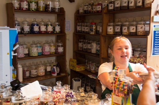 Something Sweet: Gemma the owner serving customers