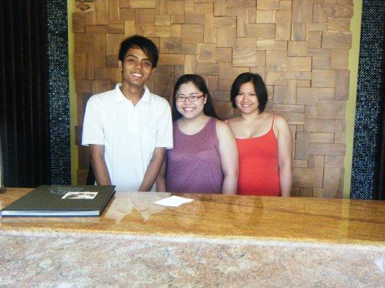 Aquarius Star Hotel: With my friend and Kadek