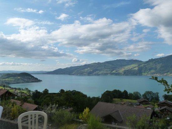 Hotel Bellevue Bären: vue de la terrasse de la chambre sur le lac