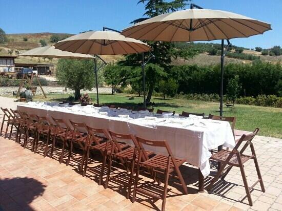 Piacevole pranzo all 39 aperto foto di la civetta nel for Camino all aperto progetta i piani
