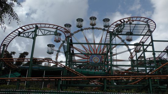Zhongshan Park of Shenzhen: Spinning Coaster and Wheel