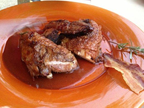 Restaurant La Ferme aux Grives : Pintade rôtie