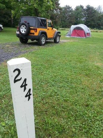 Sampson State Park: Campsite