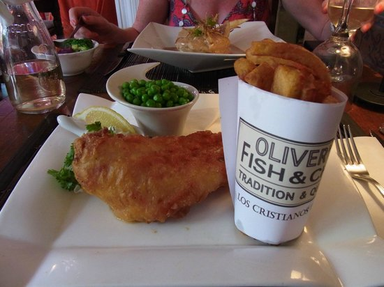 Oliver's With A Twist : Fish & Chips best I have had since The Magpie in Whitby.