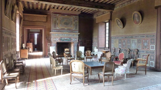 Chateau de Gizeux: le salon