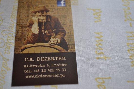 Gospoda CK Dezerter: Business Card