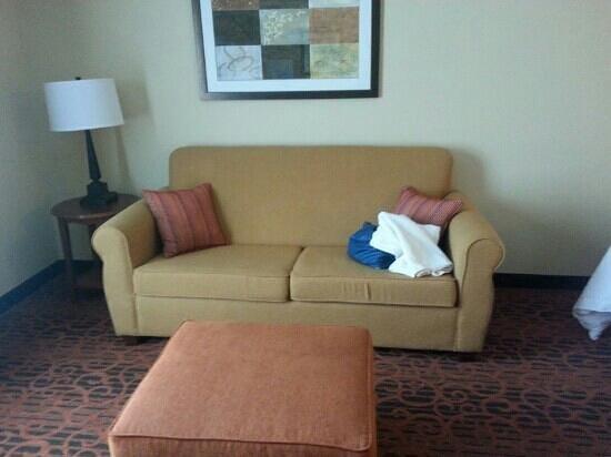 Hampton Inn Clinton: couch bed