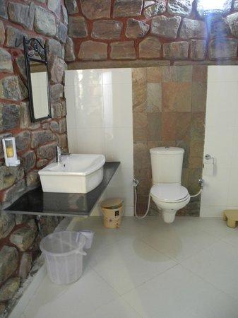 Mandore Guest House - a leafy resort.: Modern bathroom & good hot shower